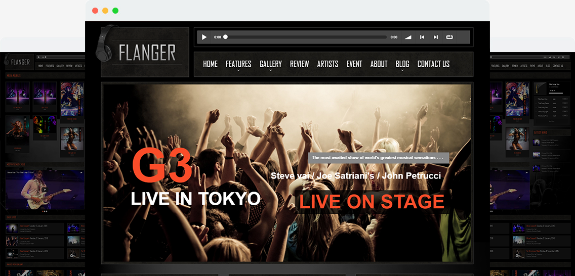 Flanger - Responsive Music & Band Wordpress Theme Image