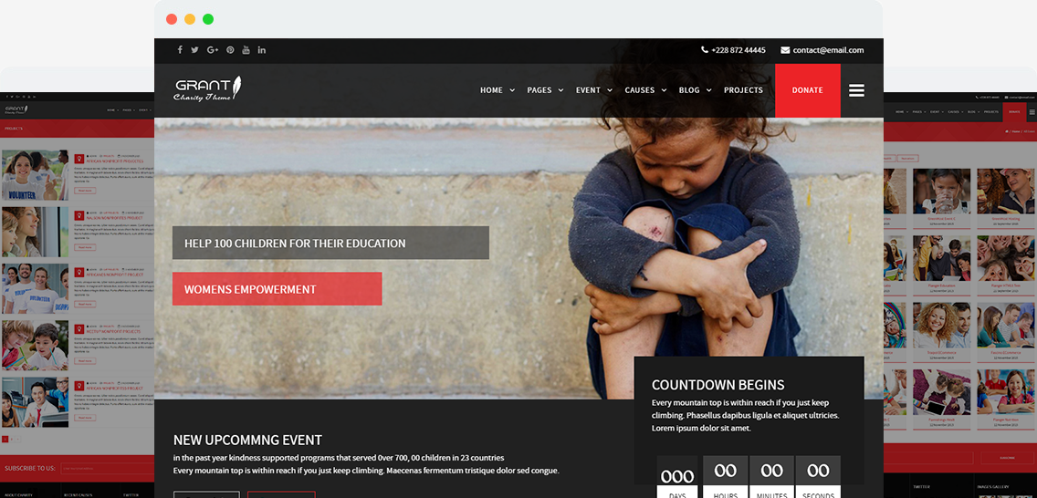 Grant - Charity / Nonprofit / NGO Wordpress Theme Image